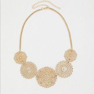 NWT Torrid Gold Medallion Statement Necklace